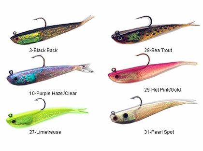 tsunami soft bait split tail minnow lures | tackledirect, Soft Baits
