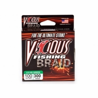 Vicious BRG Moss Green Braided Fishing Line 300 Yard Spools