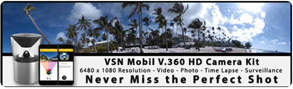VSN Mobil 360 Degree HD Video Camera Kit