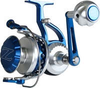ZeeBaas ZX25RBBLU Blue Spinning Reel Full Bail 2.50 Spool