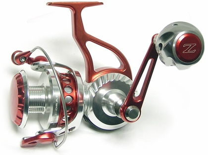 ZeeBaaS ZX27RBR Red/Silver Spinning Reel - Full Bail 2.75'' Spool