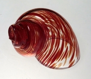 Colored Hand Blown Glass Hermit Crab Shell
