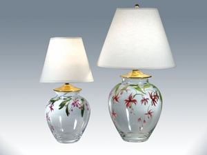 Handpainted Floral Lamps