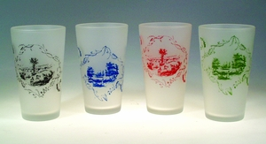ON SALE - Country Toile Glasses - Limited Colors Available