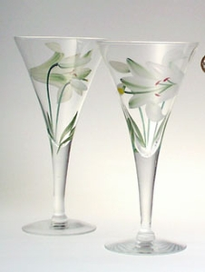 Pair of Lilies Toasting Goblets