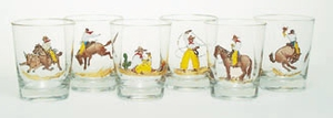 Set of 6 Bar Glasses .