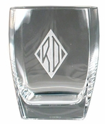 Set of four - 13.5 ounce Square Double Old Fashioned