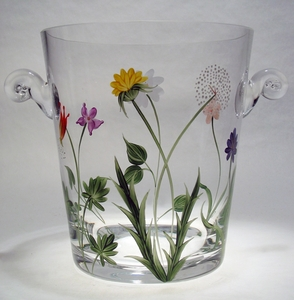 Wildflowers ~ Hand-painted Champagne Bucket