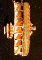 14K Gold Wright Flyer Airplane Pendant