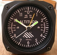 Airplane Altimeter Alarm Clock