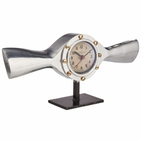 Deco Design Cropped Propeller Mantel Clock