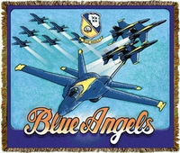 Blue Angels Throw/Blanket | Special Order