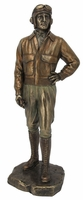 Bronzed Pilot Sculpture - Sorry