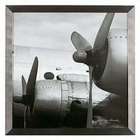 Framed Vintage Airplane Wall Art