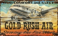 Gold Rush Air Sign - Can Be Personalized