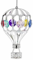 Hot Air Balloon Ornament with Crystals