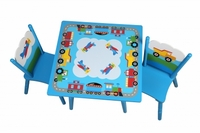 Kids Airplane Table & 2 Chair Set