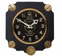 Metal Altimeter Wall Clock