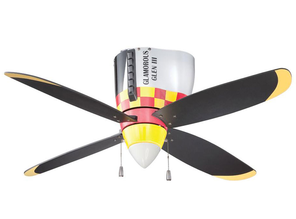 P 51 Mustang Warbird Airplane Ceiling Fan Cool Aviation