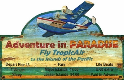Paradise Sign - Can Be Personalized