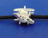 Silver Airplane Bead Jewelry