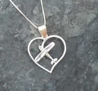 Silver Cessna Style Pendant with Necklace