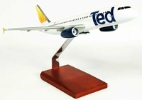 United Airlines A320 Ted Model Airplane