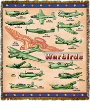 WW II Airplanes Throw/Blanket - Special Order