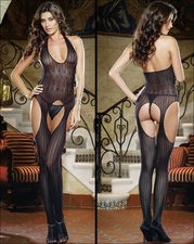 Suspender Bodystocking Patterned Crochet