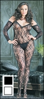 Plus Size Bodystocking Floral Half Sleeve #8046Q