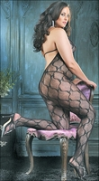 Plus Size Bodystocking Butterfly Lace