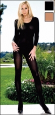 Bodystocking Opaque Long Sleeves #8752