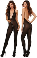Bodystocking with Front to Rear Zipper