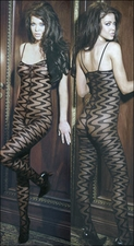 Bodystocking with Zig Zag Waves