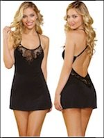 Comfy Chemise with Lace Accents