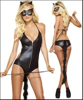 Costume Bad Kitty Fetish Fantasy Set