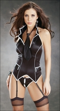 Crotchless Bustier Set w/Stockings