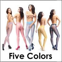 Crotchless Pantyhose with Colorful Shine 20 Denier