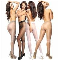 Crotchless Pantyhose with Shine 20 Denier