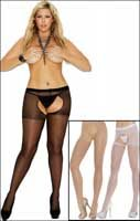 Queen Size Crotchless Pantyhose #1726Q