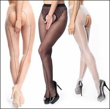 Crotchless Pantyhose with Back Seams
