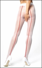 Luxury Crotchless Pantyhose with Hearts Back Seam