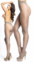 Crotchless Pantyhose Shiny Gray P101 Larger Images