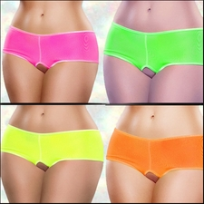 Crotchless Short Black Light Neons