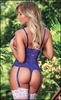 Crotchless Teddy Luv Lace Blue