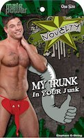 Elephant G-String My Trunk Your Junk Gag Gift