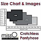 Miss O Hosiery Brand Size Chart & Images