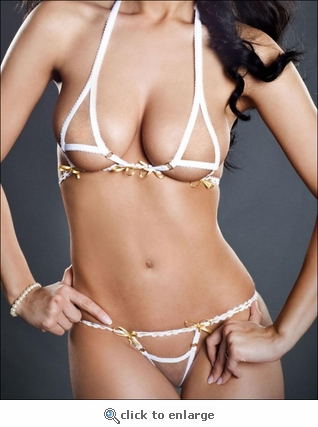 Exotic White Lingerie Set