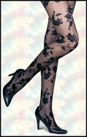 Patterned Pantyhose Floral (No Box)