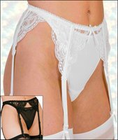 Lace Garterbelt with Stay Straight Boning